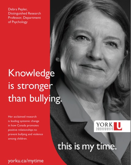 Dr. Deb Pepler, Distinguished Researcher at York University