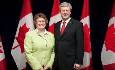 Wendy Craig and Stephen Harper
